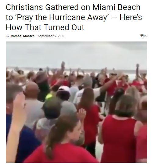pray hurricanes